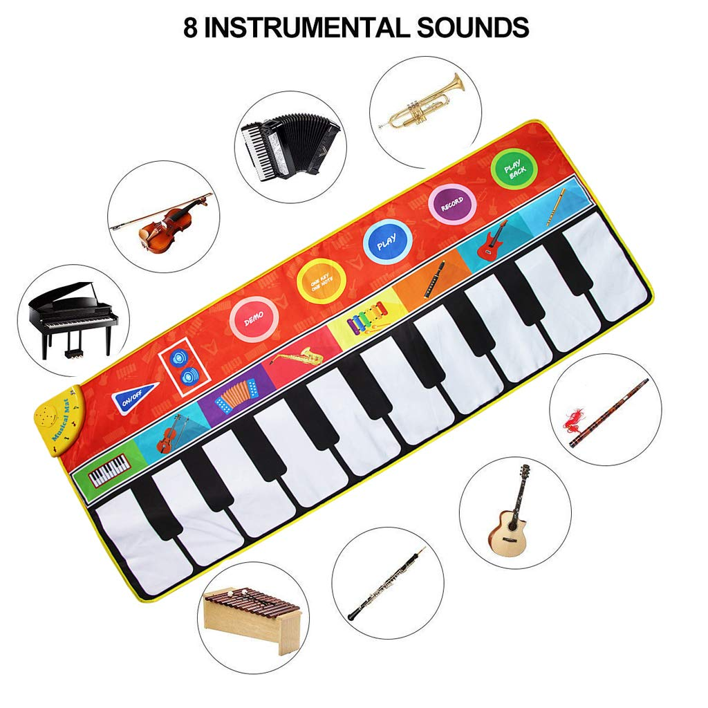 Toygogo Musical Music Piano Play Baby Mat Animal Educational Mat 148x60cm by Toygogo (Image #6)