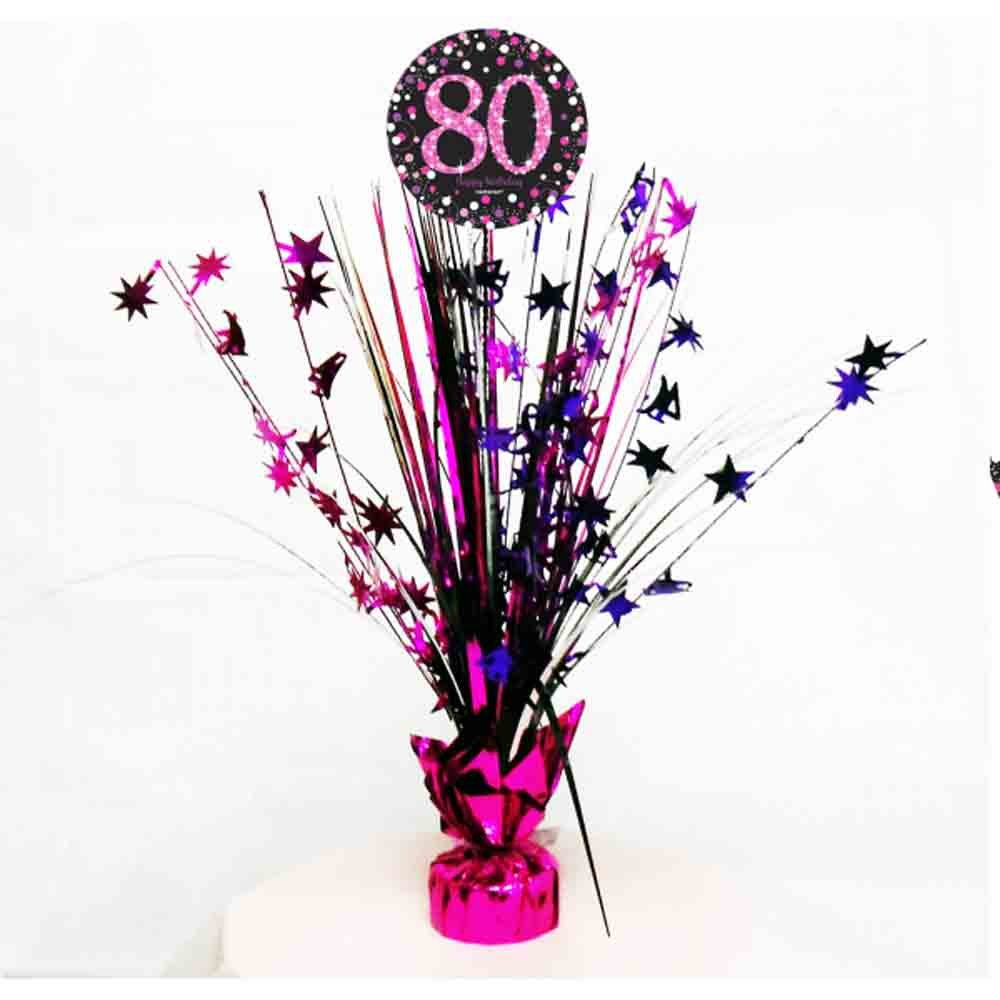 80th Birthday Spray Centrepiece Table Decoration | Age 80 Party Supplies amscan