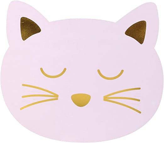 TOM ET ZOE - Juego de Mesa Infantil (38 x 33 cm), diseño de Gato, Color Rosa: Amazon.es: Hogar