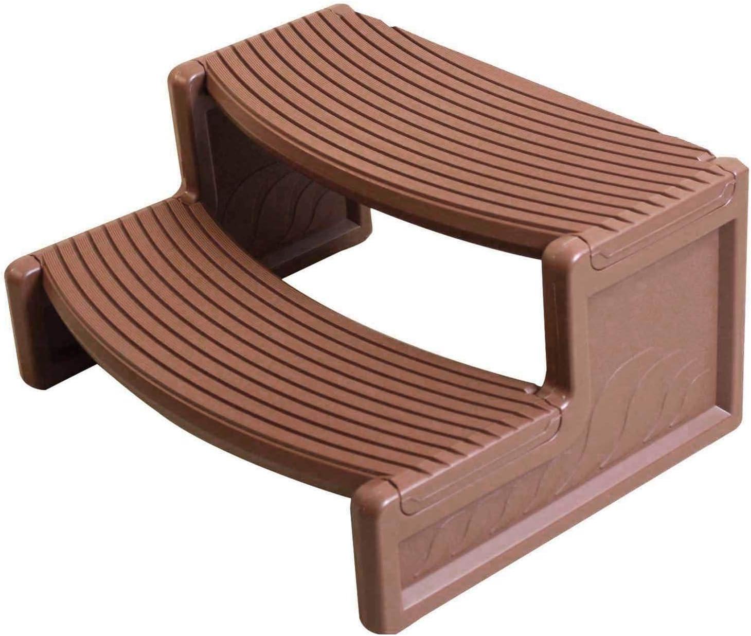 Amazon Com Confer Plastics Resin Multi Purpose Spa And Hot Tub Handi Step Steps Medium Red Garden Outdoor