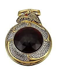 AMPM24 Mens Golden Dragon Dangle Pendant Pocket Quartz Watch + Gift Chain WPK043