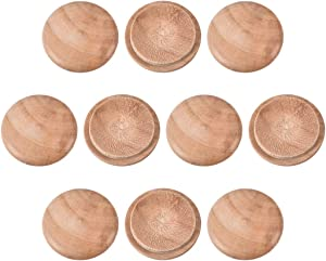 uxcell Wood Button Top Plugs 1 Inch Cherry Hardwood Furniture Plugs 100 Pack