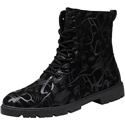 1d6592f1d979 Image Unavailable. Image not available for. Color  Gobling Men s Chukka  Boots Chunky Heel High-Top Lace Up ...