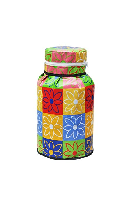 HOMEBEST� PVC Fabric Gas Cylinder Cover LPG Cylinder Cover, (Size :-25 x 21inch), Multicolor
