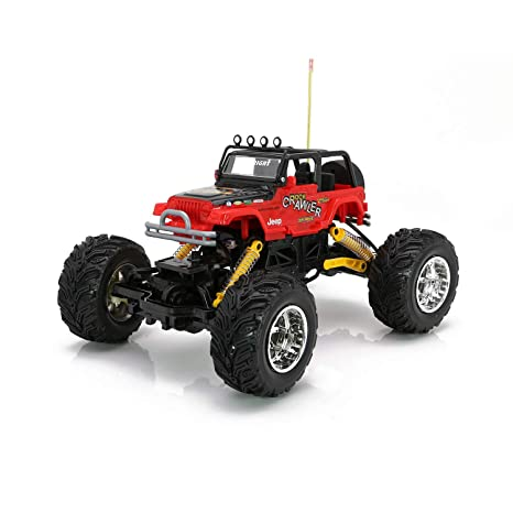RC CHARGERS Jeep Rock Crawler Off-Road RC Truck | Extreme Flex 4X4 Chassis,  Superior Suspension, Off-Road Capable, 27MHz, Pistol Grip Control | AA