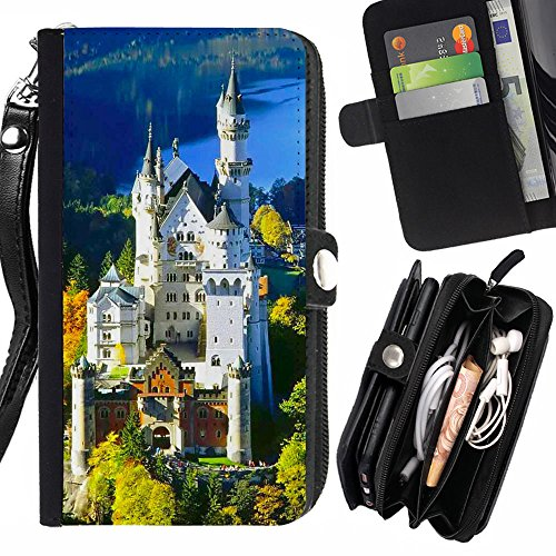 graphic4you-bavaria-germany-postcard-design-zipper-wallet-with-strap-card-holder-case-cover-for-sams