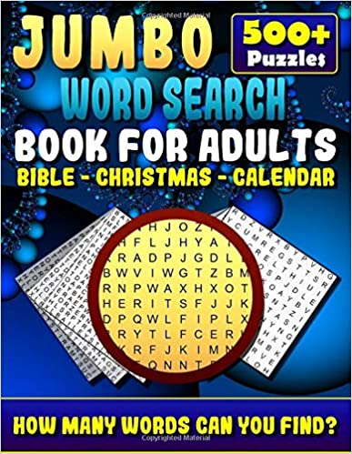 Jumbo Word Search Book For Adults Bible Christmas Calendar 500