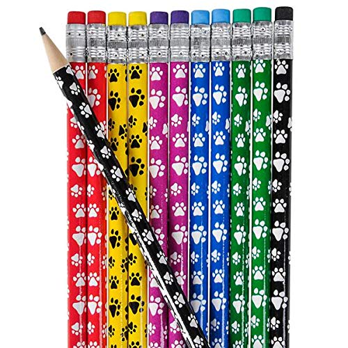 Rhode Island Novelty Paw Print Pencils- Party Favors (Pack of 24)