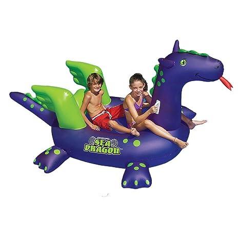 Amazon.com: Swimline Giant Sea Dragon Inflatable Pool Toy: Garden ...