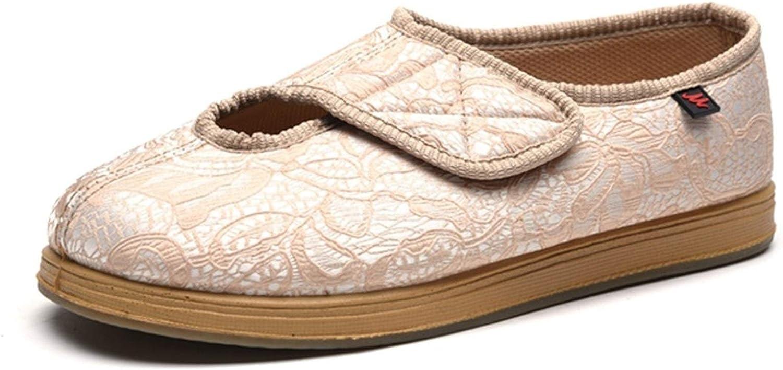 Zapatillas ortopédicas zapatillas for señoras de las mujeres hallux valgus se abrieron los zapatos del pie diabético grasa hinchados pies gasa quirúrgica cálida lana Artritis Edema Hinchazón Casa