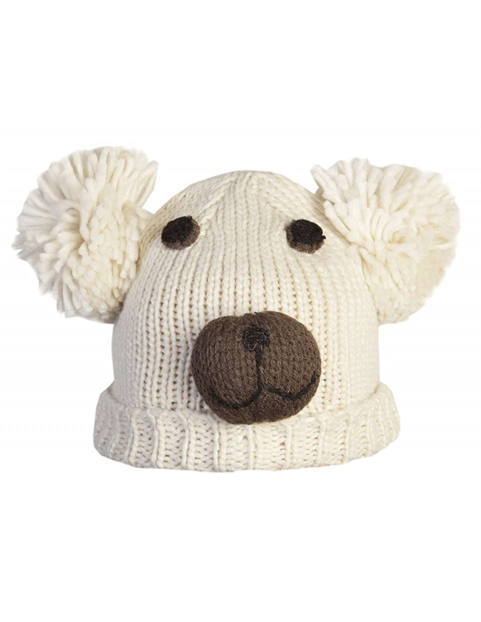 Baby Teddy Bear Face Knitted Hat BABYHT001