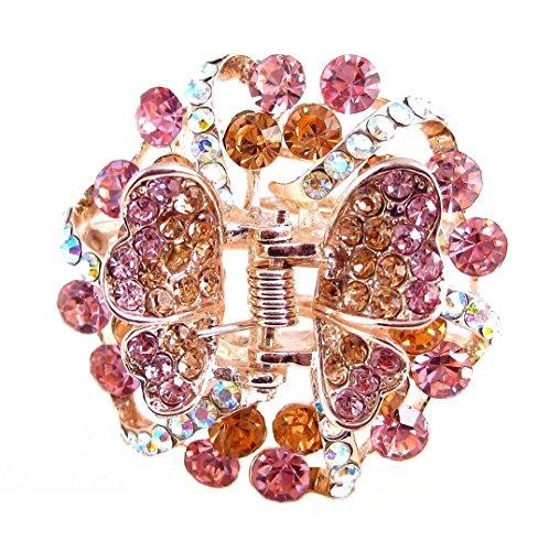 Crystal Burst Hair Clip / Scarf Pin - Light Pink (H437)
