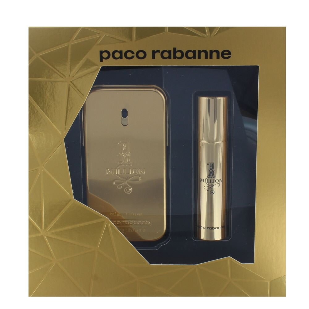 PACO RABANNE I MILLION SET 50ML EAU DE TOILETTE SPRAY+10ML TRAVEL SPRAY