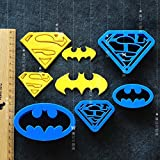 Astra Gourmet Super Hero Batman Superman Cartoon Cookie Cutters Pastry Stamp Biscuit Mold Sugarcraft Cake Decoration, Set of 4