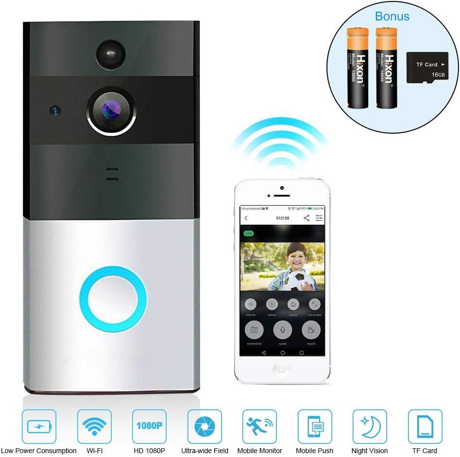 Timbre Inalámbrico Videoportero Wifi HD Gran Angular Versión ...