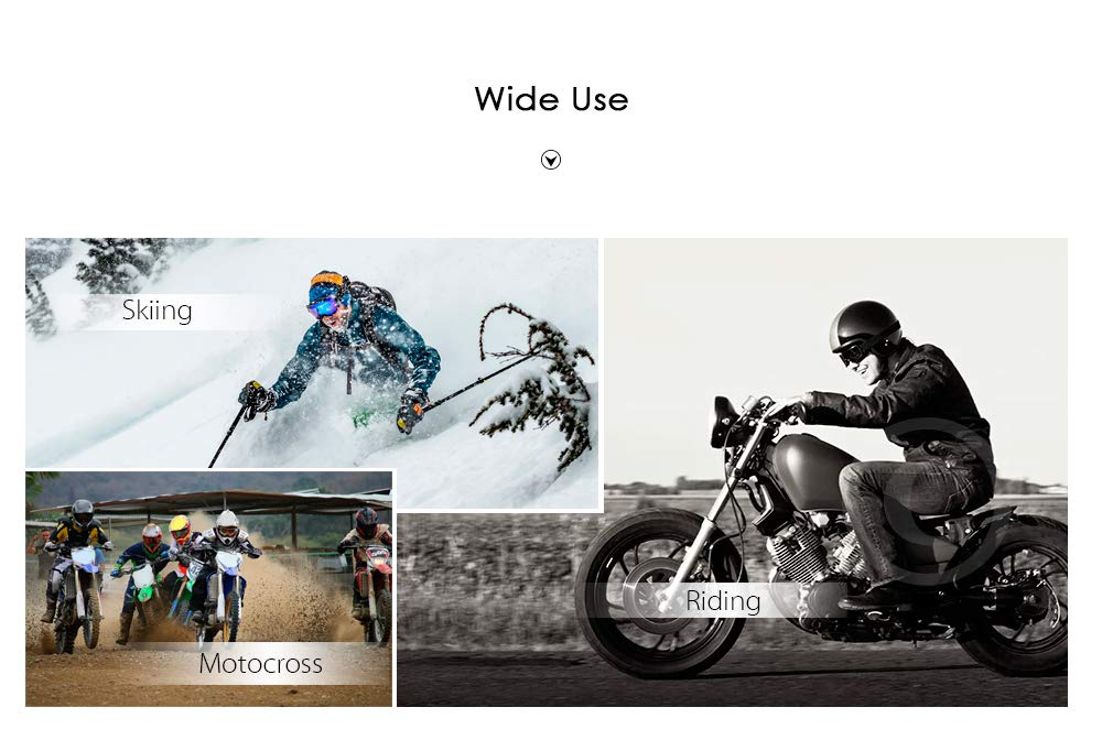 RRunzfon X400/Moto Lunettes Motocross Ski Outdoor Riding Cerulean