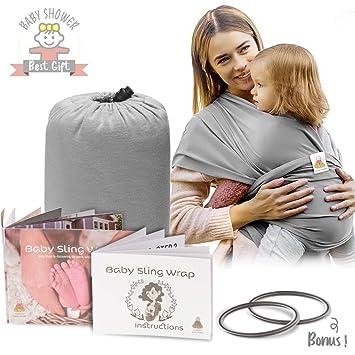 Amazon.com: Baby envoltorio portabebés grey| suave Infant ...