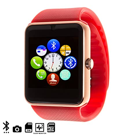 DAM Gt08 Bluetooth Watch Red
