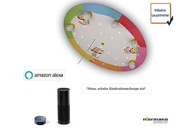 Deckenlampe Mit Zugschalter ~ Led kinder deckenleuchte amazon echo kompatibel mit bunten