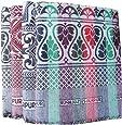 TEXTILEKART Cotton Blanket/Carpet/SOLAPUR Chaddar/GALICHA in Pure Cotton (Set of 4 Blankets)