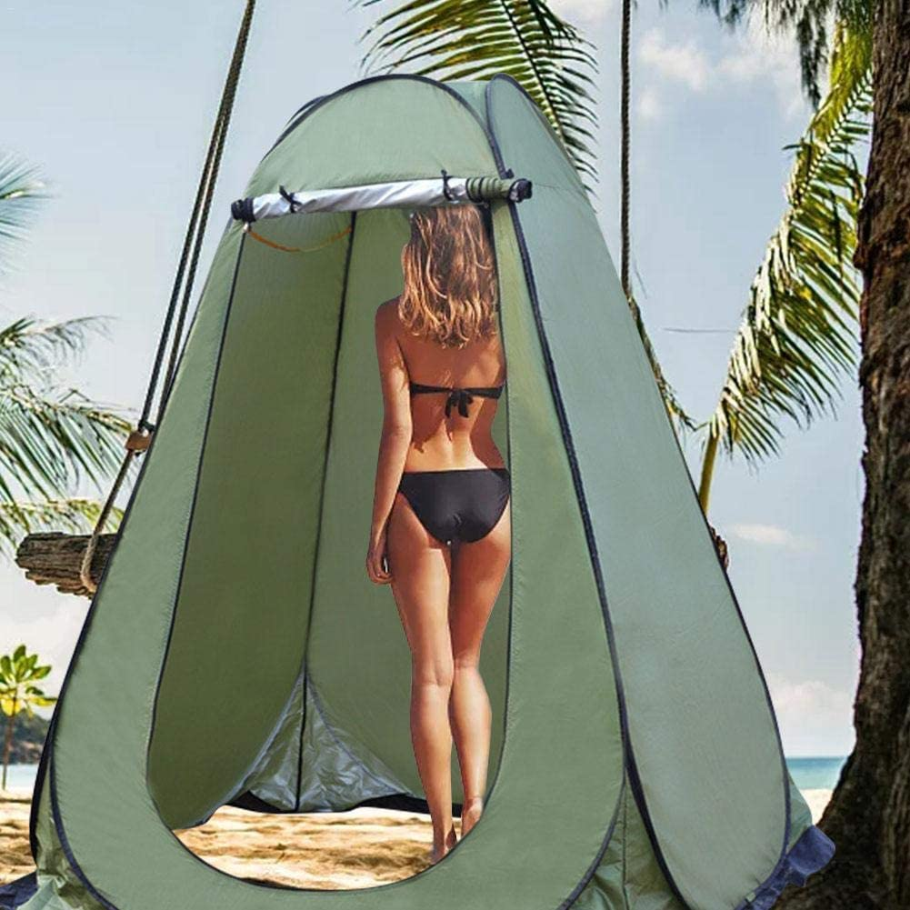 Instant Portable Outdoor Shower Tent Camp Toilet Rain Shelter for Camping and Beach Changing Room for Outdoors Hiking Travel Pop Up Pod Changing Room Privacy Tent
