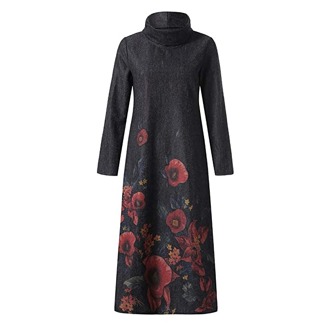 444f077f1e1 Amazon.com  Clearance 2018🎅Christmas Womens Vintage Holiday Paisley Maxi  Dress Kaftan Dress