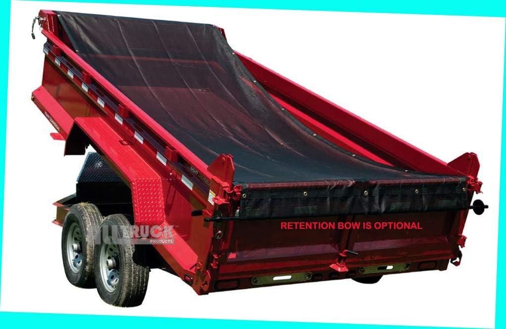 7 X 14 Aluminum Manual Truck /& Trailer Hand Crank Tarp Kit with Tarp