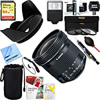 Canon EF-S 10-18mm F4.5-5.6 IS STM Lens + 64GB Ultimate Filter & Flash Photography Bundle
