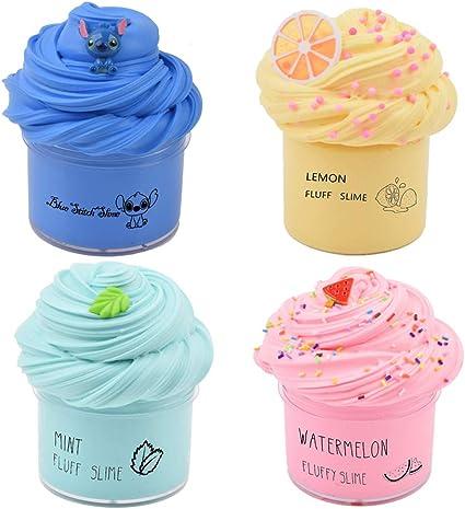 Butter Slime 4 PackKids Craft Yellow Blue Pink Aqua Fun Toy Australian Slimes