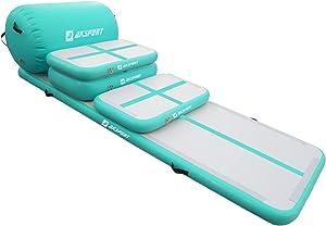 5pcs Set of Inflatable Gymnastics Air Mat Tumble Track Tumbling Mat