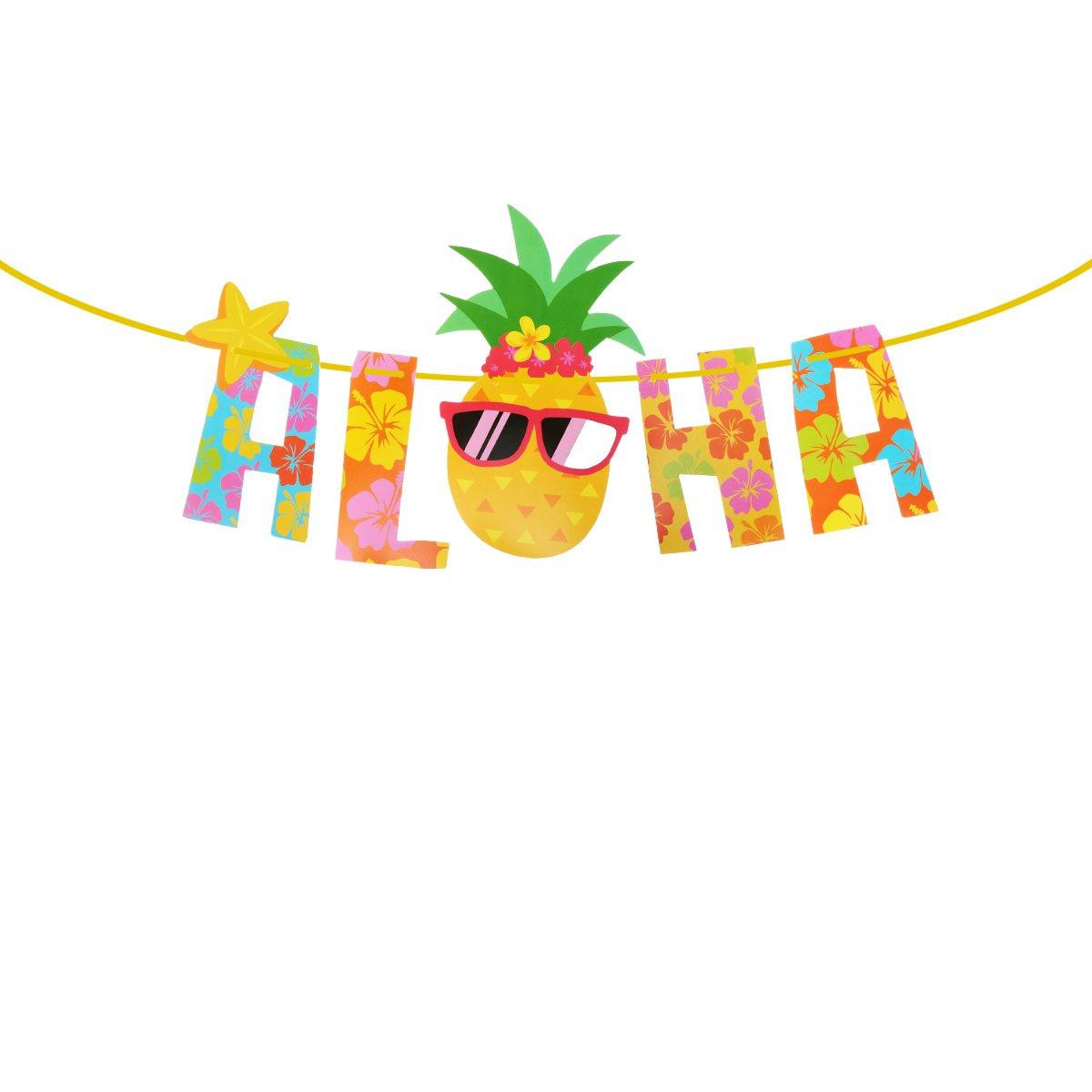 LUOEM Luau Party Banner Aloha Hawaii Fiesta temática Decoración Suministros Fotografía Apoyos
