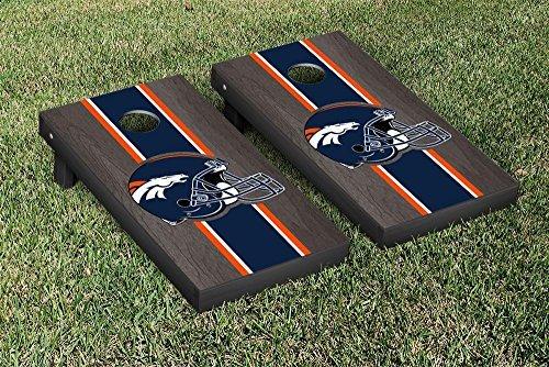 NFL Denver Broncos Onyx Stained Stripe Version Football Cornhole Game Set 24 x 48 Multicolor [並行輸入品]