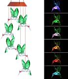 AMWGIMI Hanging Solar Lights Outdoor Wind Chimes Lights LED Colour Changing Hanging Light for Design Decoration for Garden, Patio, Balcony Outdoor & Indoor (Wind Chimes Hanging)