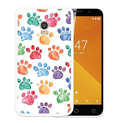 Funda Vodafone Smart Turbo 7, WoowCase [ Vodafone Smart Turbo 7 ] Funda Silicona Gel Flexible Huellas Perro, Carcasa Case TPU Silicona: Amazon.es: ...