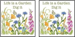 product image for Alice's Cottage 2 Piece Floral Flour Sack Kitchen Towel Bundle, Life is A Garden