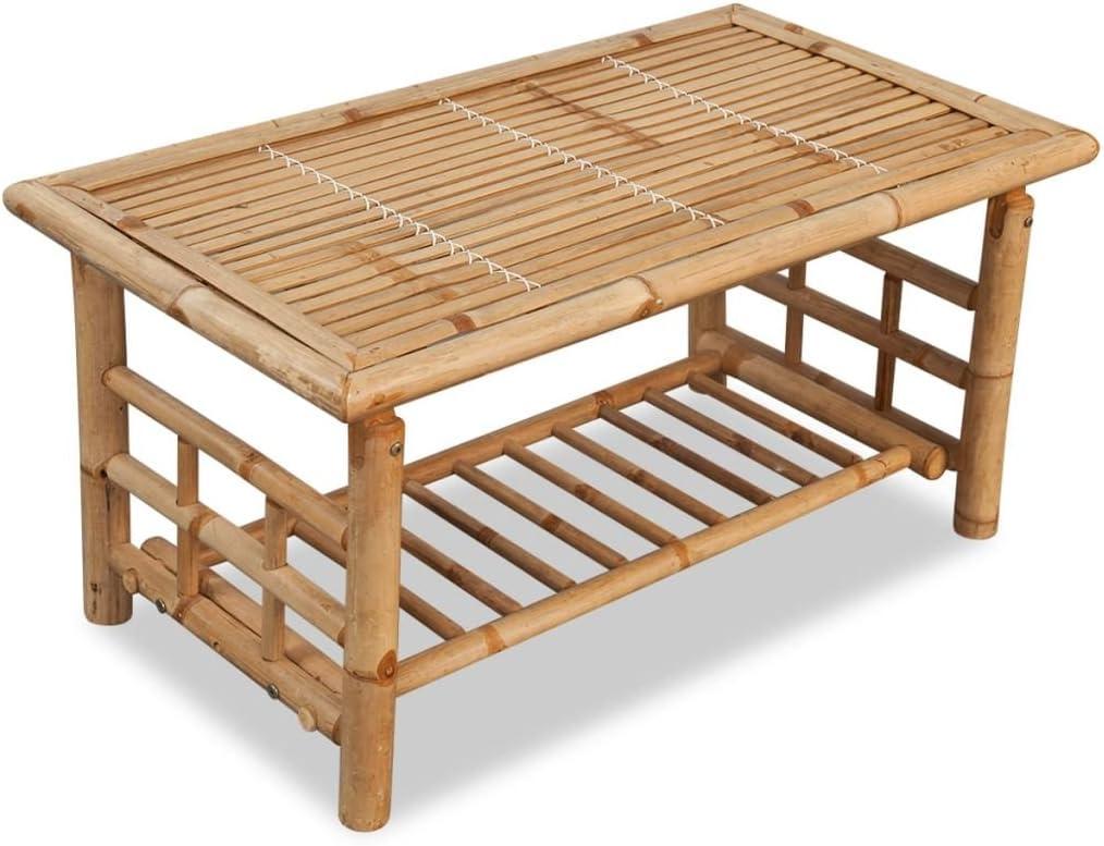 vidaXL Mesa de centro 90x50x45 cm bambú: Amazon.es: Hogar