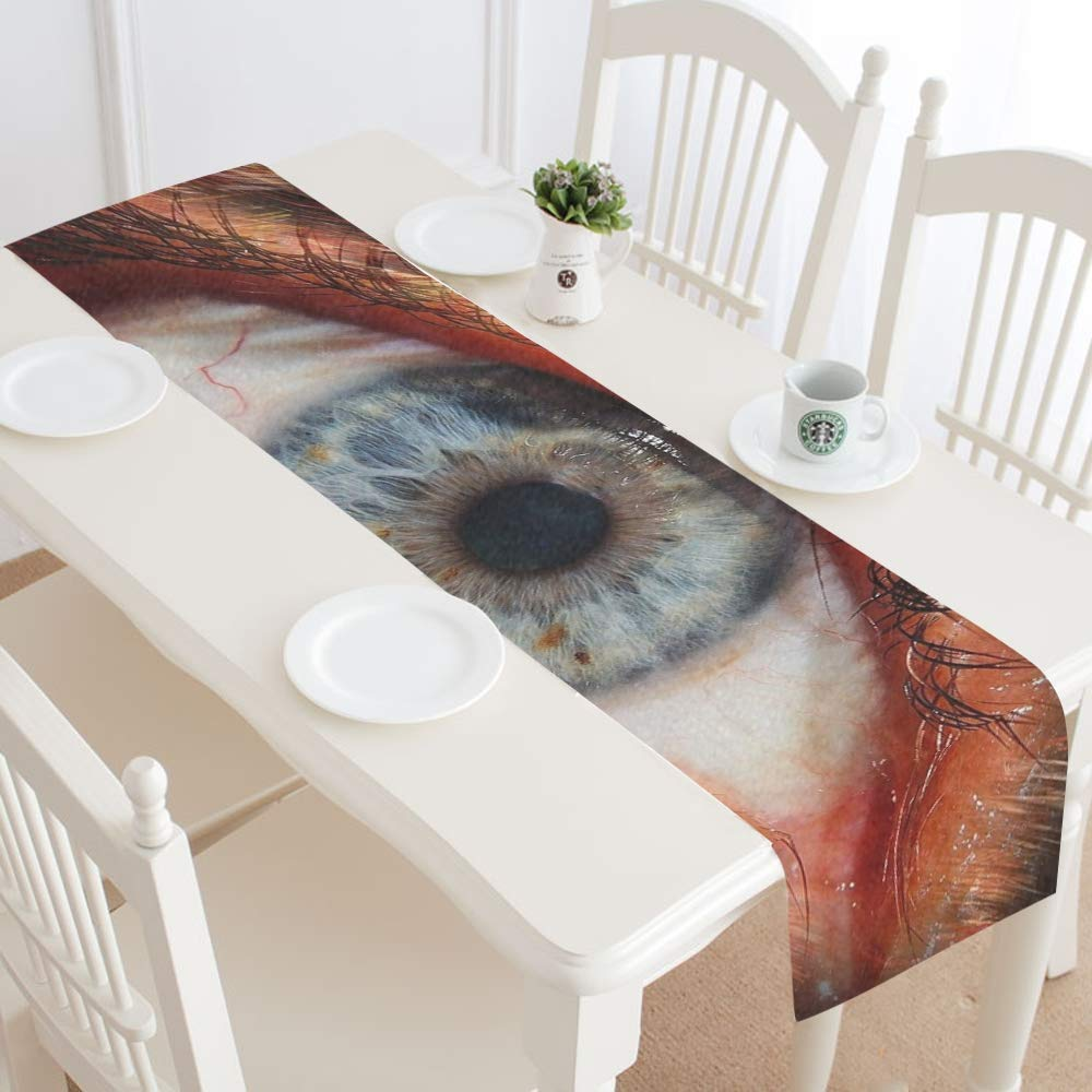 Human Face Fur Animal Fur Werewolf Creepy Horror Table Runner, Kitchen Dining Table Runner 16 X 72 Inch For Dinner Parties, Events, Decor by RYUIFI (Image #2)