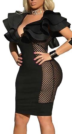Sexy mesh club dresses