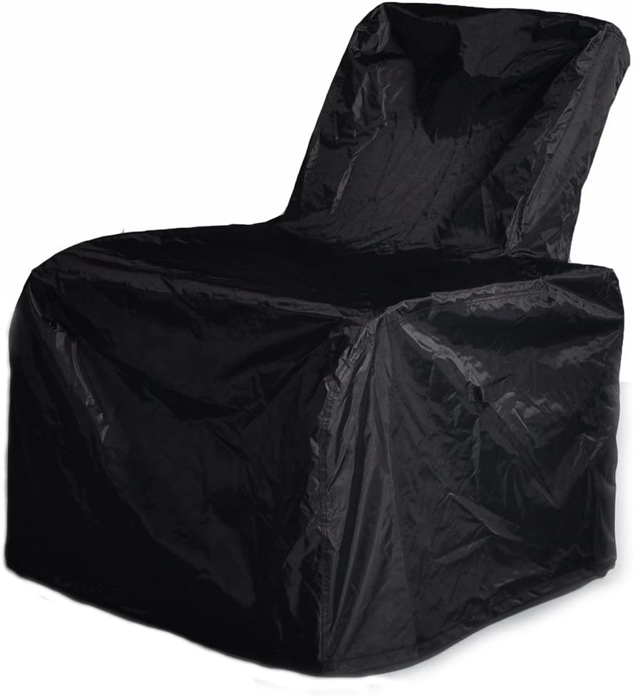 ART TO REAL Outdoor Patio Furniture Chair Protective Storage Cover, Durable and Water Resistant High Back Outdoor Chair Cover, Black
