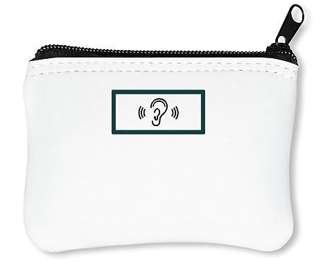 Ear Logo Billetera con Cremallera Monedero Caratera: Amazon ...