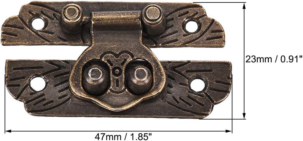 5 St/ück sourcing map Holzkiste Antik Verschl/üsse mit Schrauben Box Haspe Zinklegierung 47x23mm 47x23mm