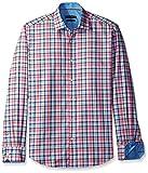 Bugatchi Men's Springtime Plaid Button Down Shirt