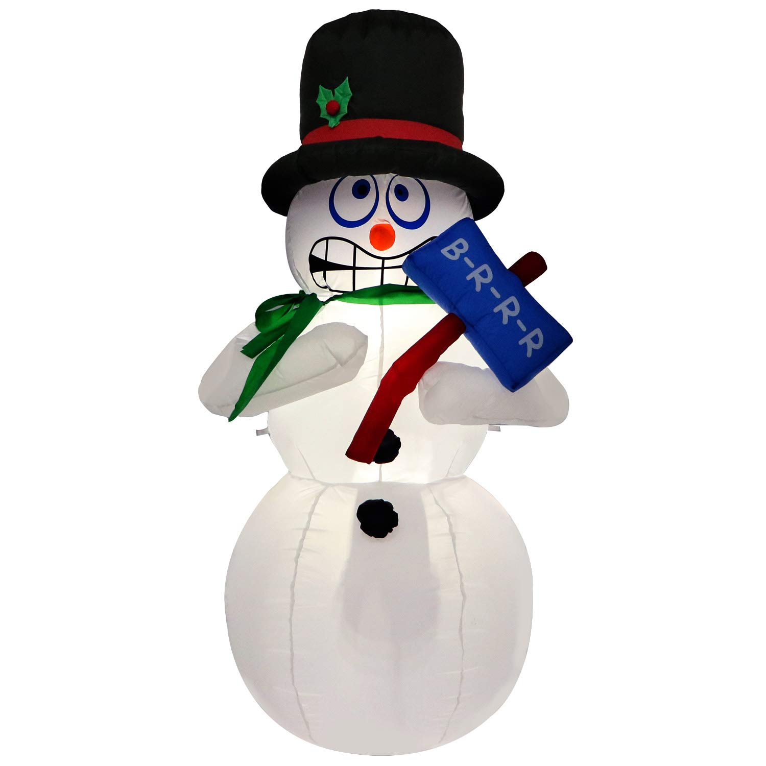 Amazon 6 Ft Inflatable Shivering and Shaking Snowman with A Hat