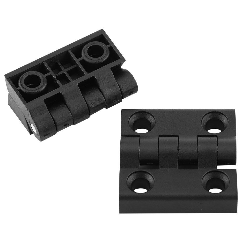 10pcs Charniè res 4 Trous de Montage en Nylon Noir pour Meubles, Tiroirs, Placard(50*50mm) Walfront AHNVAXYZ2566