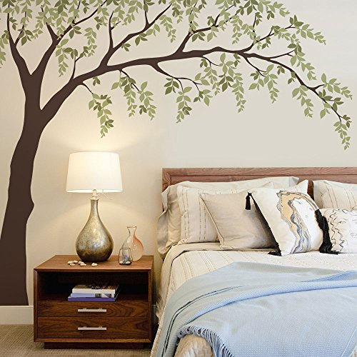 Falling Leaves Weeping Willow Tree Decal- by Simple Shapes (scheme A) ()