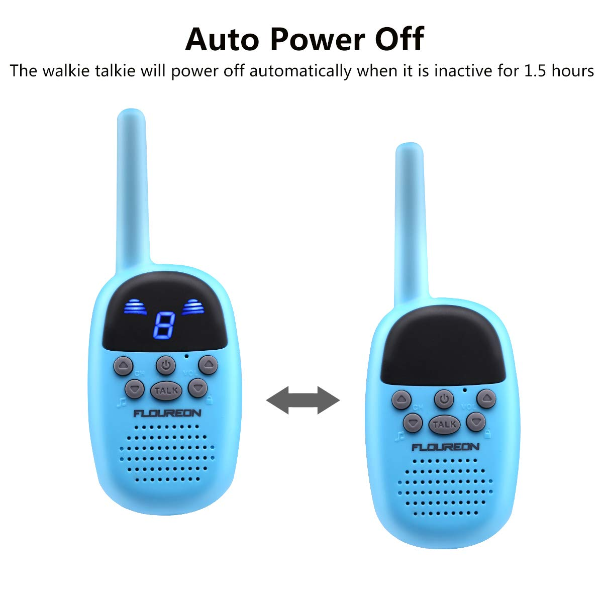 Spronto Kids Walkie Talkies 9 Channel Two Way Radio Twins Walkie Talkies FRS/GMRS Handheld Interphone Long Range for Trips Outdoor Activities (Blue) by Spronto (Image #5)