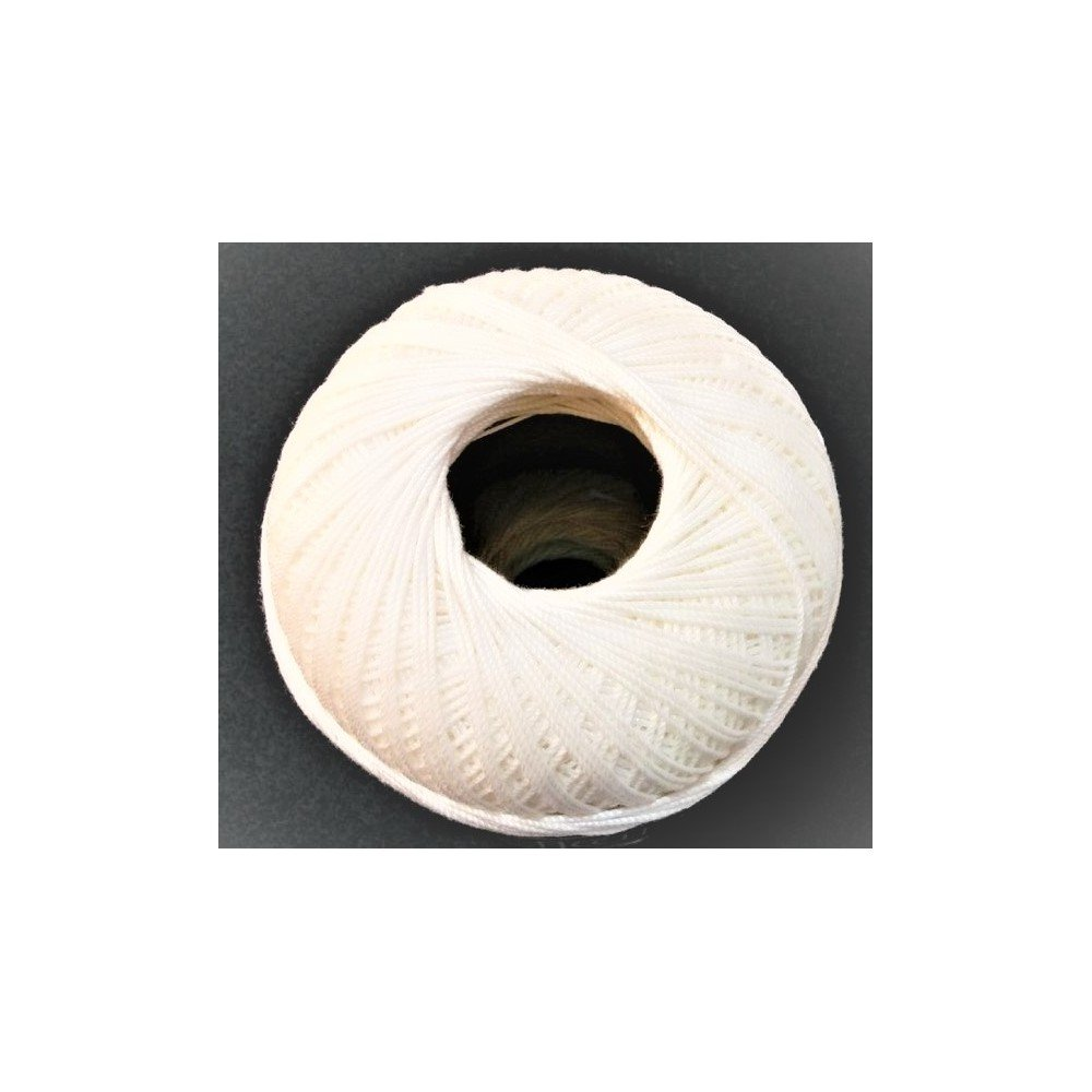 TOMASELLI MERCERIA Cotone Filo di Scozia per Uncinetto Numero 12 gomitolo da Grammi 100 Bianco Latte