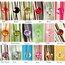 Yiyida 1 Piece Tassel Beaded Curtain Crystal Beads Thread String Door Window Curtain for Room Partition Divider 1m x 2m