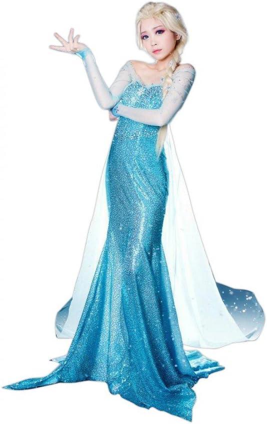 Deluxe Disfraz Hielo Princesa Frozen Elsa: Amazon.es: Juguetes y ...