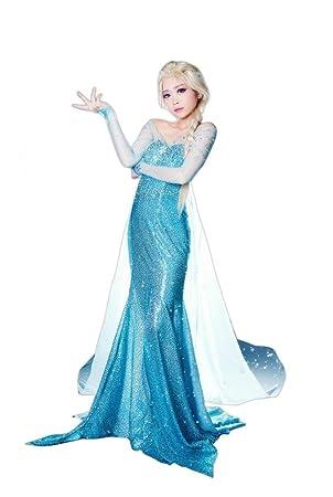 Deluxe Disfraz Hielo Princesa Frozen Elsa